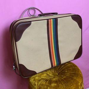 🌈 70s rainbow small suitcase 🌈